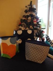 Cadeau de Noël : Petits paniers fourre-tout avec des chutes de tissus !