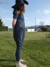 Combinaison Passerine en jersey denim d'Ottobre 3/2015 - taille 146 cm...