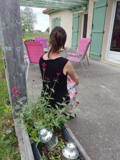"""Ma petite robe """"Alice au pays des merveilles"""", coupon acheté chez lulu la luciole, Modèle CHARLESTON adapté, du magazine Ottobre 2/2017"""