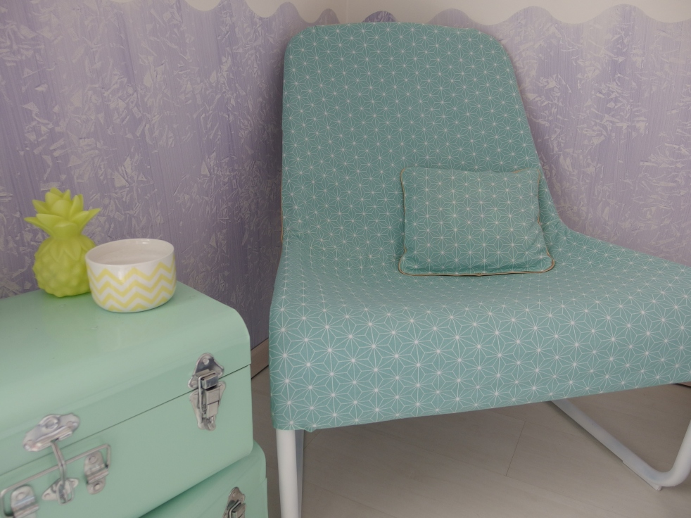 Du neuf avec du vieux ! Le fauteuil de Nenette après relooking !!