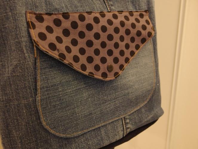 Mon sac Thelma de Mavada, en jeans recyclé...